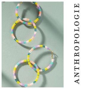 Anthropologie striped hoop earrings